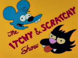 Show credits showing Scratchy the cat.