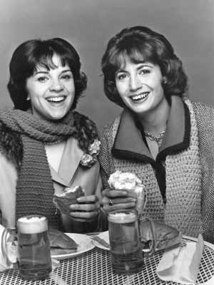Actresses Cindy Williams and Penny Marshall. Williams named her unique stuffed cat Boo Boo Kitty.